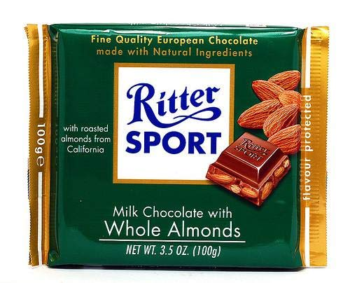 Chocolate Covered Nuts Ritter Sport Milk Chocolate With Whole Almonds 100g Buy Now At 380 00