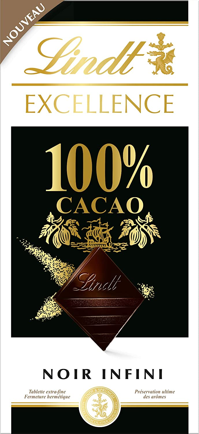 Swiss Chocolates Lindt Excellence 100 Cacao Dark