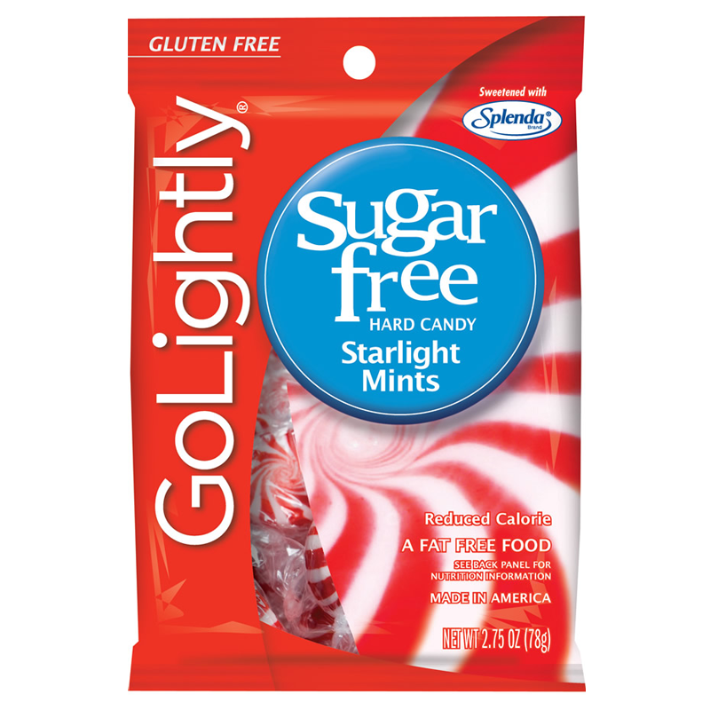 GoLightly Starlight Mints Sweetened with Splenda Hard Candies 78 gm