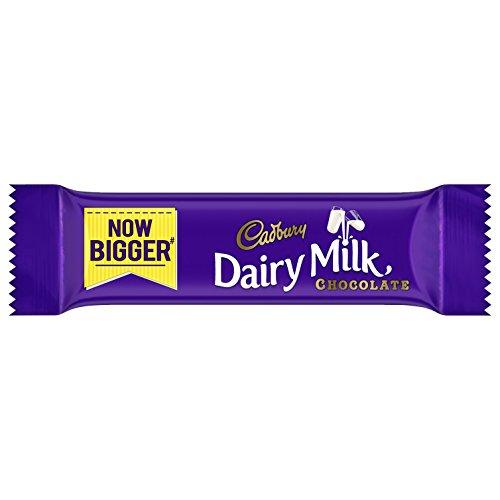 Cadbury Dairy Milk Chocolate Bar, 6.6g (Pack of 72)