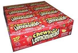 Lemonheads Chewy Redrific Candy, 0.80 Oz - 24 Count