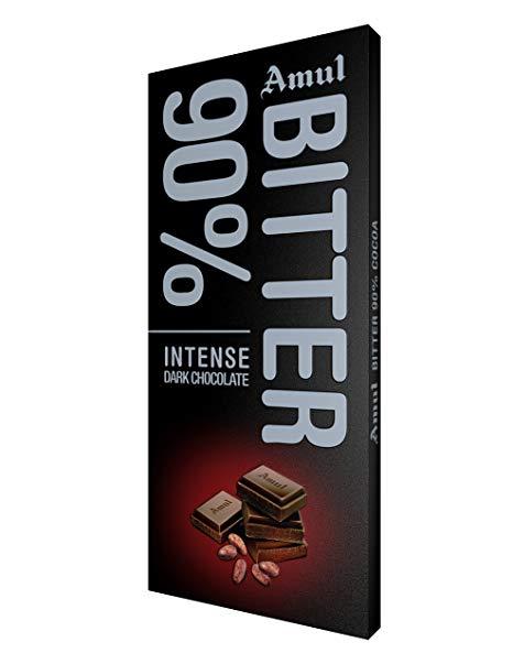 Amul Bitter 90% Dark Chocolate Bars  (150 g)