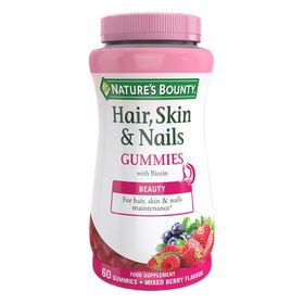 Nature's Bounty Hair, Skin and Nails Gummies with Biotin 60 Pack