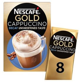 Nescafe Gold Cappuccino Decaf 8 Mugs - 116g