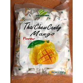Thai Chew Mango Toffee Gummy Milk Fruit Candy 360G (100 Pieces)