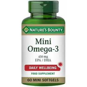 Nature's Bounty Mini Omega-3 450mg EPA / DHA 60 mini softgels