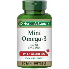 Nature's Bounty Mini Omega-3 450mg EPA / DHA 60 mini softgels