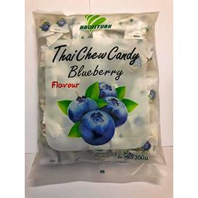 Thai Chew Blueberry Toffee Gummy Milk Fruit Candy 360G (100 Pieces)