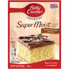 Betty Crocker Super Moist Butter Recipe yellow Cake Mix 432G
