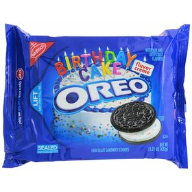 Mondelez Nabisco Oreo Chocolate Sandwich Cookies, Birthday Cake, 432Gms