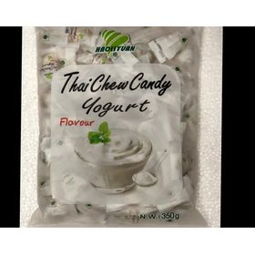 Thai Chew Yogurt Toffee Gummy Milk Fruit Candy 360G (100 Pieces)