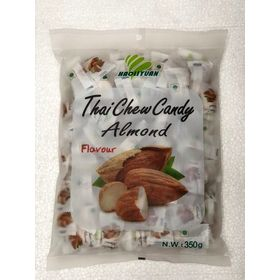 Thai Chew Almond Toffee Gummy Milk Fruit Candy 360G (100 Pieces)