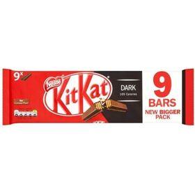 Kit Kat Dark 9 X 2 Finger Chocolate Bar (9 X 20.7 g) 186.3 g