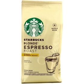 Starbucks Blonde Espresso Roast Whole Bean Arabica Coffee Roast & Ground Coffee  200 g
