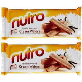Pack of Two NUTRO Vanilla Flavoured Cream WAFERS (Pack of 2) 75 GM Each