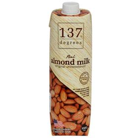 137 Degrees Almond Milk Original Unsweetened, 1L