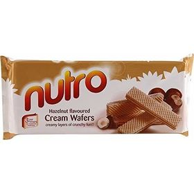 Pack of Two NUTRO Hazelnut Flavoured Cream WAFERS (Pack of 2) 75 GM Each