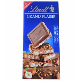 Lindt Grand Plaisir Lait Double De Noisettes ( Milk Hazelnut ) Milk Chocolate Bar 150g