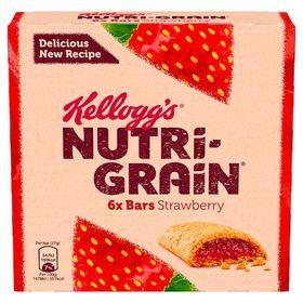 Kellogg's Nutri-Grain Strawberry Cereal Bars 6 Pack (37 Grams)