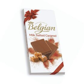 The Belgian Milk with Salted Caramel Chocolate Bar, 100g