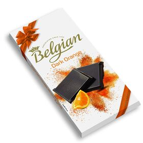 The Belgian Bar Dark Orange Chocolate Bar, 100g