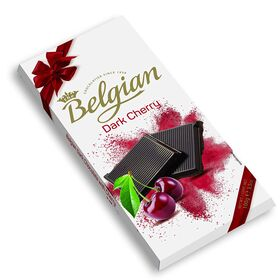 The Belgian Bar Dark Cherry Chocolate Bar, 100g