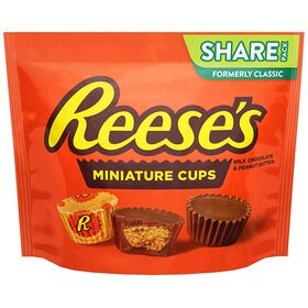 Hershey'S Reese's Milk Chocolate Peanut Butter Cups Miniatures - 298G Bag