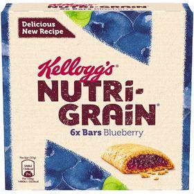 Kellogg's Nutri-Grain Blueberry Cereal Bars 6 Pack (37 Grams)