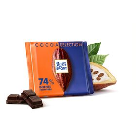Ritter Sport Cocoa Selection Fine Dark Chocolate with 74% Intense from Peru , 100 g