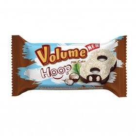 Volume Hoop Coconut and White Compound Chocolate Coated Cake Filled With Milk Cream Box of 24Pcs 45Gms Each