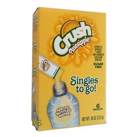 Crush Singles To Go! Sugar-Free Low Calorie Pineapple Drink Mix, 0.5 Oz