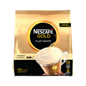 Nescafe Gold Flat White 15 Sticks 20g