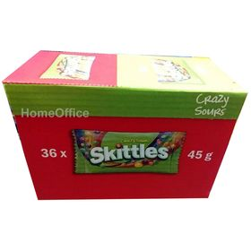 Skittles Crazy Sour Candy 36 Bags X 45g