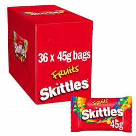 Skittles Fruits 36 Bags X 45g