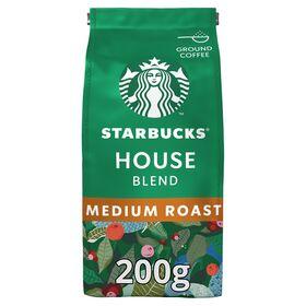 Starbucks House Blend Medium Roast, 100% Arabica Ground Coffee 200G