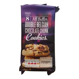 M&S All Butter Double Belgian Chocolate Chunk Cookies 200g