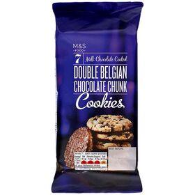 M&S Double Belgian Chocolate Chunk Cookies 175g