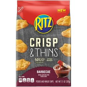 RITZ  Barbecue, Crisp & Thins Potato and Wheat Chips 201 Gms