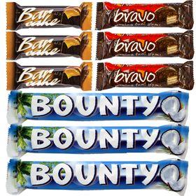 Combo Of 9 Bounty, Bravo and Bar Cake Chocolates