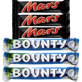 Mars and Bounty Chocolate Combo 3 each