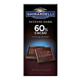 Ghirardelli Intense Dark 60% Cacao, 100g, Free ChoocKick Eco Friendly Pen