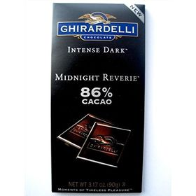 Ghirardelli Intense Dark 86% Cacao Midnight Reverie Chocolate Bar, 90g, Free ChoocKick Eco Friendly Pen