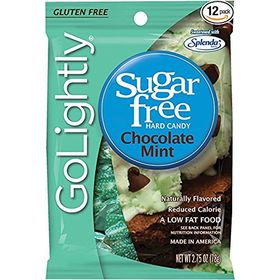 GoLightly Chocolate Mints Sweetened with Splenda Hard Candies 78 gm