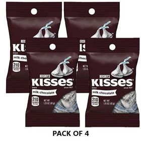 Hersheys Kisses Milk Chocolates, 43g (Pack of 4)