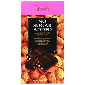 Alfredo No Added Sugar Dark Chocolate With Almond Bits, 100g
