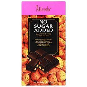 Alfredo No Added Sugar Dark Chocolate With Almond Bits, 100g
