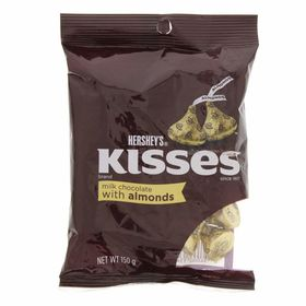 Hershey's Kisses Milk Chocolate Almond, 150g