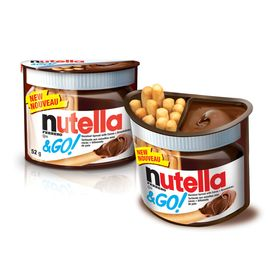 Ferrero Nutella & Go Hazelnut Spread With Cocoa & Breadsticks, 50g Pack Of 2