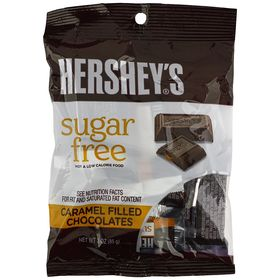Hershey's Sugar-Free Milk Chocolate Caramel Filled, 3-Ounce Bags (Pack of 12)
