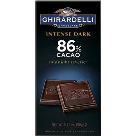 Ghirardelli 86% Cacao Intense Dark Midnight Reverie, 90g